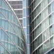 Modern building glass facades geometry - Stock Photo