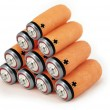 Green energy batteries concept — Stock Photo