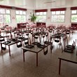 Empty school dining hall - Stock Photo