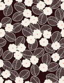 Vector seamless pattern displaying floral — Stock Vector