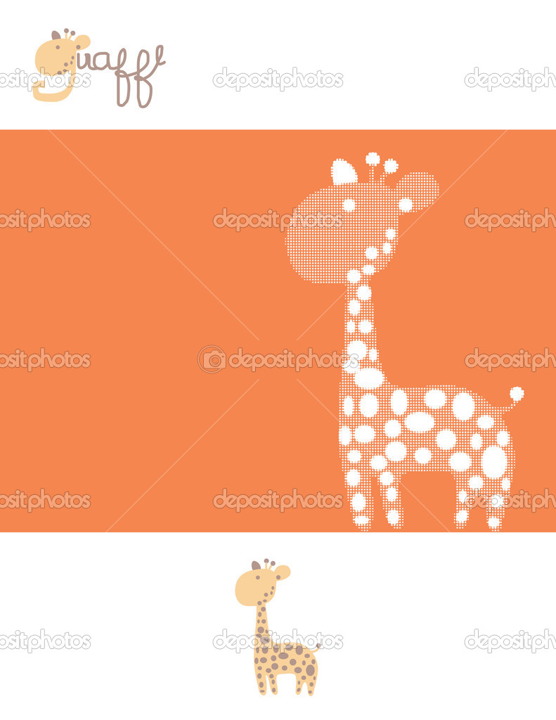Vector displaying textured giraffe — Stock Vector #3021358