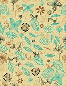 Jardin botanique et les oiseaux ii — Vecteur