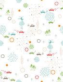 Baby зеленый город улицы ii — Cтоковый вектор