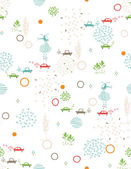 Baby Green City Streets II — Vector de stock