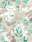 Botaniska trädgården och lite vänner ii — Stockvektor