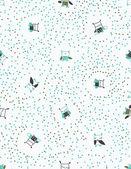Retro Confetti Snow — Stock Vector