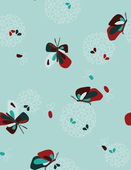Mosaic Butterflies II — Cтоковый вектор
