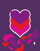 Velvet Hearts III — Stockvector