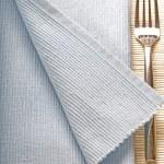 Fork on blue napkin — Stock Photo #3045819