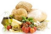 свежие ингредиенты для итальянский ужин — Стоковое фото