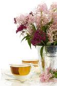 Bylinné čaje a květin — Stock fotografie