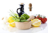 Herbs and vegetables — Stock Photo