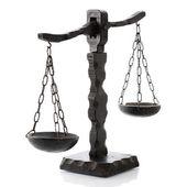 Justitia horizontaal houten — Stockfoto