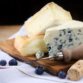 Three cheeses — Stock Photo