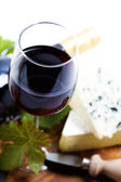 Wine and cheese — Stockfoto