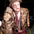 Circus clown with a monkey. - Stock Photo