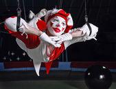 Acróbata de circo aéreo — Foto de Stock
