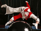 Circus air acrobat — Stock Photo