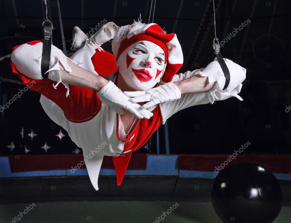 Circus air acrobat. Photo. — Stock Photo #3431931