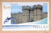 Greek stamp — Stock Photo