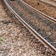 Empty railway tracks — Stock Photo