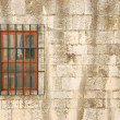 Stock Photo: Window with bars of a medieval building