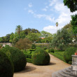 Enchanted Ajuda garden in Lisbon, Portugal - Stock Photo