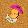 Business cycle with technology and — Stock Photo #3904899