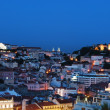 Beautiful nightscene in Lisbon, Portugal - Stock Photo