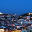 Stock Photo: Beautiful nightscene in Lisbon, Portugal