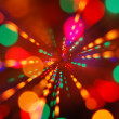 Christmas lights glowing (blur motion background) — Stock Photo