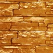Unshaped stone wall (illuminated) — Stock Photo