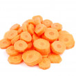 Carrot slices on white — Stock Photo #3905086