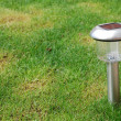 Solar garden light - Stock Photo