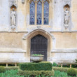 Church and ornamental garden at Sudeley Castle — Stock Photo