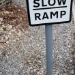 Slow ramp sign — Stock Photo