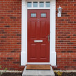Red brick house (entrance detail) — Stock Photo #3905693