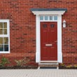 Foto Stock: Red brick house