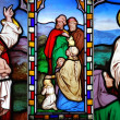 Stock Photo: Religious stained glass window collection