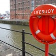 Buoy foam lifesaving ring in marine — Stock Photo