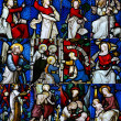 Religious stained glass window collection — Stock Photo