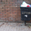 Vintage garbage can - Stockfoto