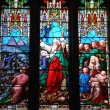 Religious stained glass windows - Stock Photo