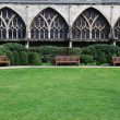 Gloucester Cathedral (garden view) — Stock Photo