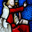 Religious stained glass window - Stock fotografie