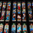 Religious stained glass windows — Stock Photo