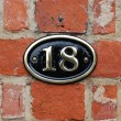 House number: 18 — Foto Stock