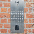图库照片: Intercom doorbell and access code
