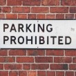 Parking prohibited sign — Stock Photo