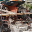 Stock Photo: Boat reparation (dry docks)